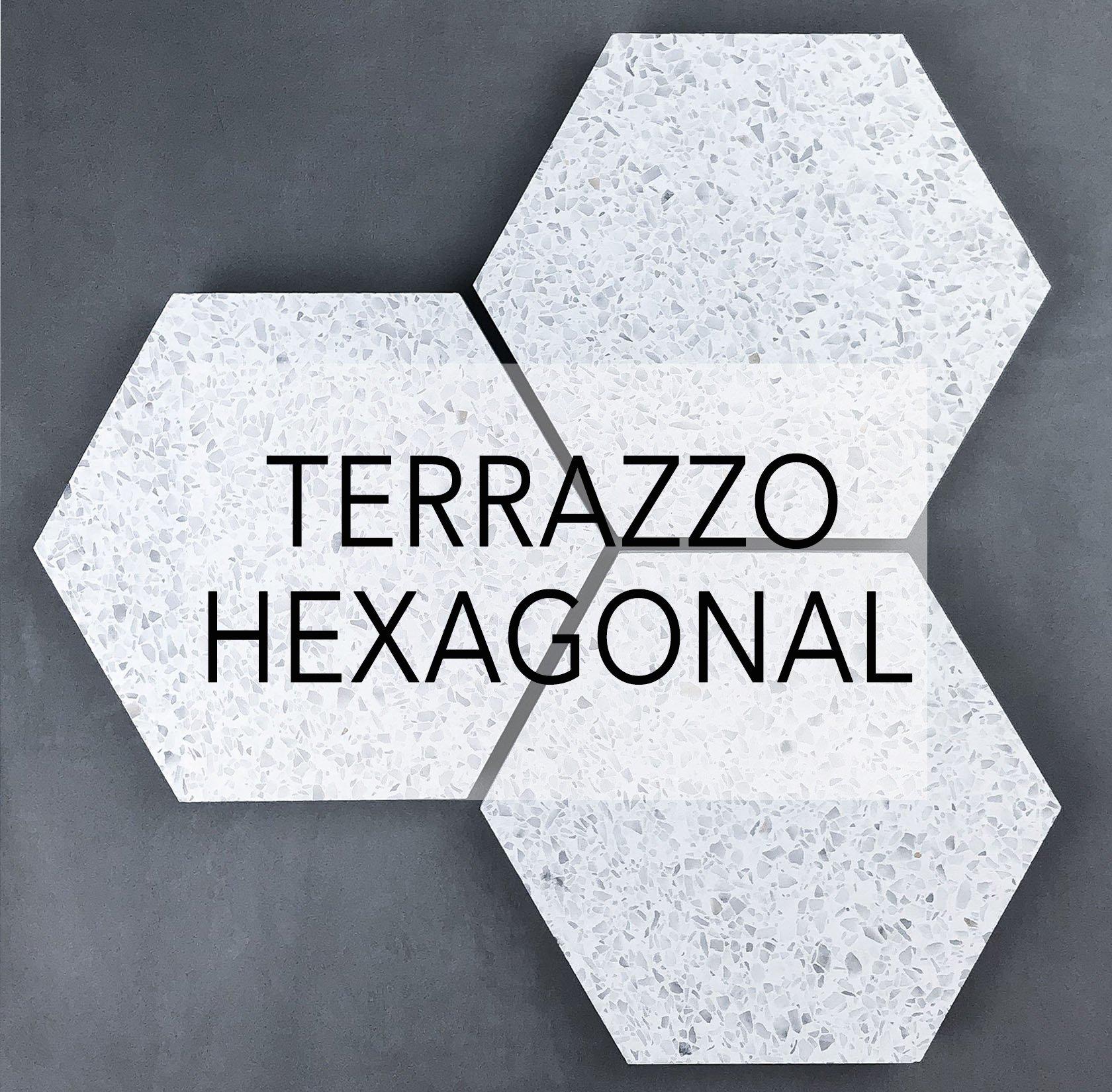 Terrazzo Hexagonal cement tiles