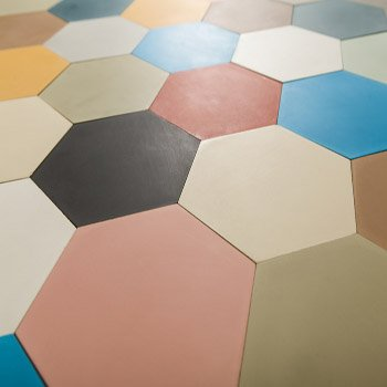 Buy Bespoke Solid Coloured Tiles Online From Stock| Terrazzo