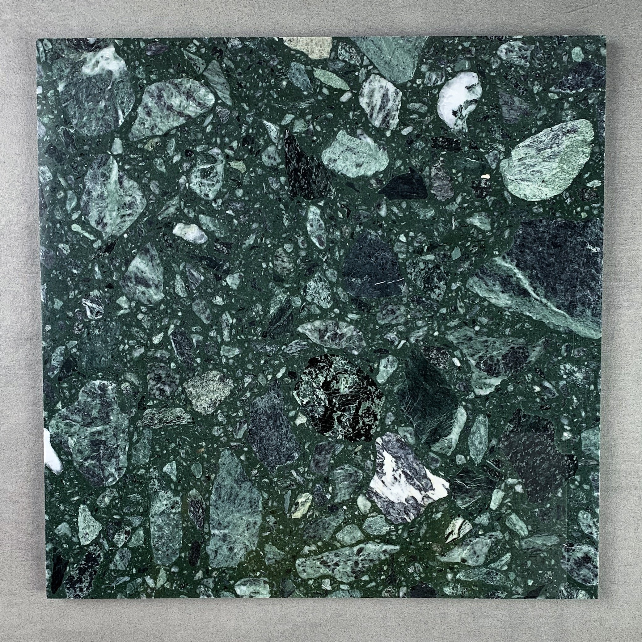 w11 Emerald Green Terrazzo Resin tiles