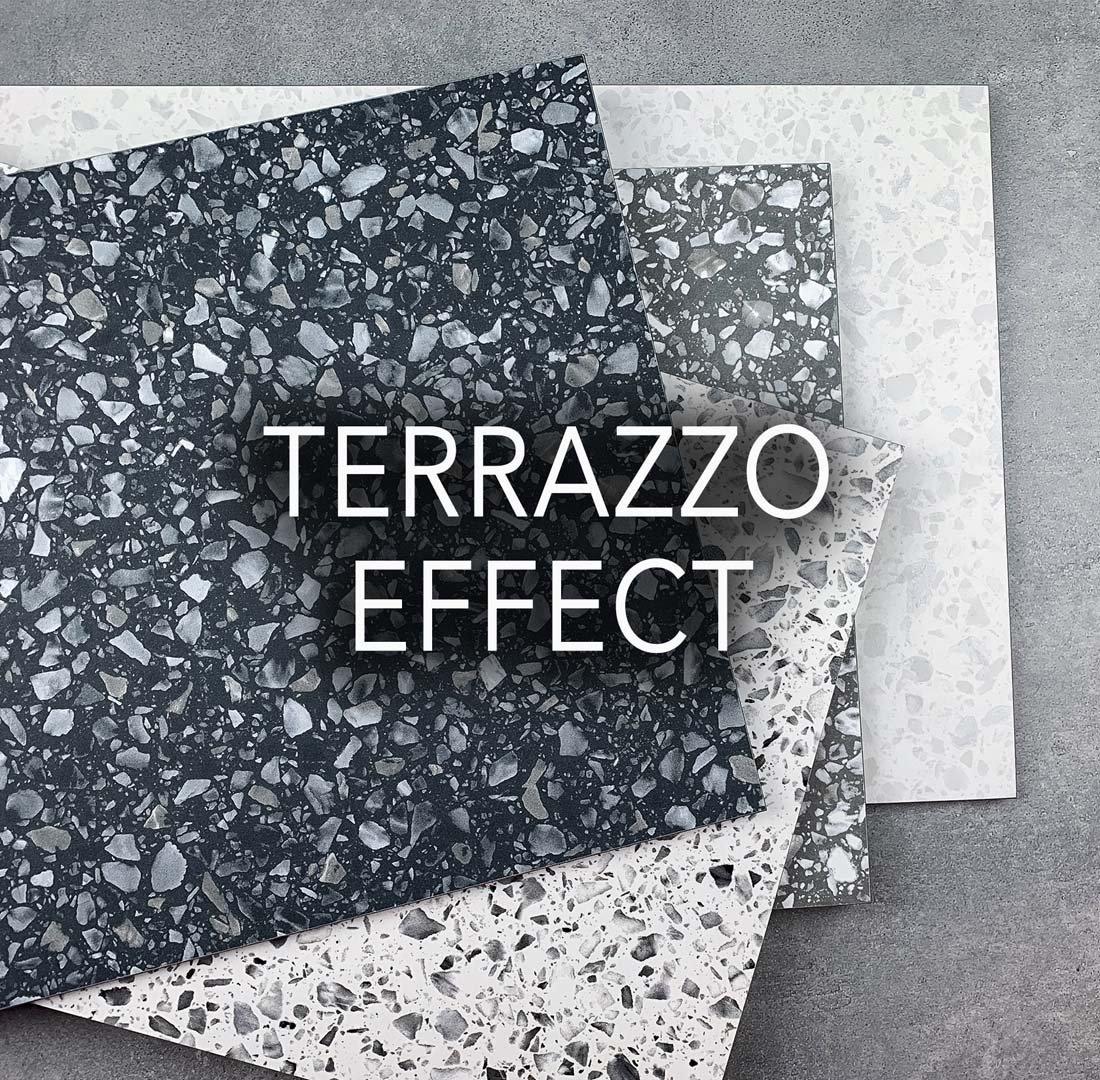 terrazzo effect porcelain tiles