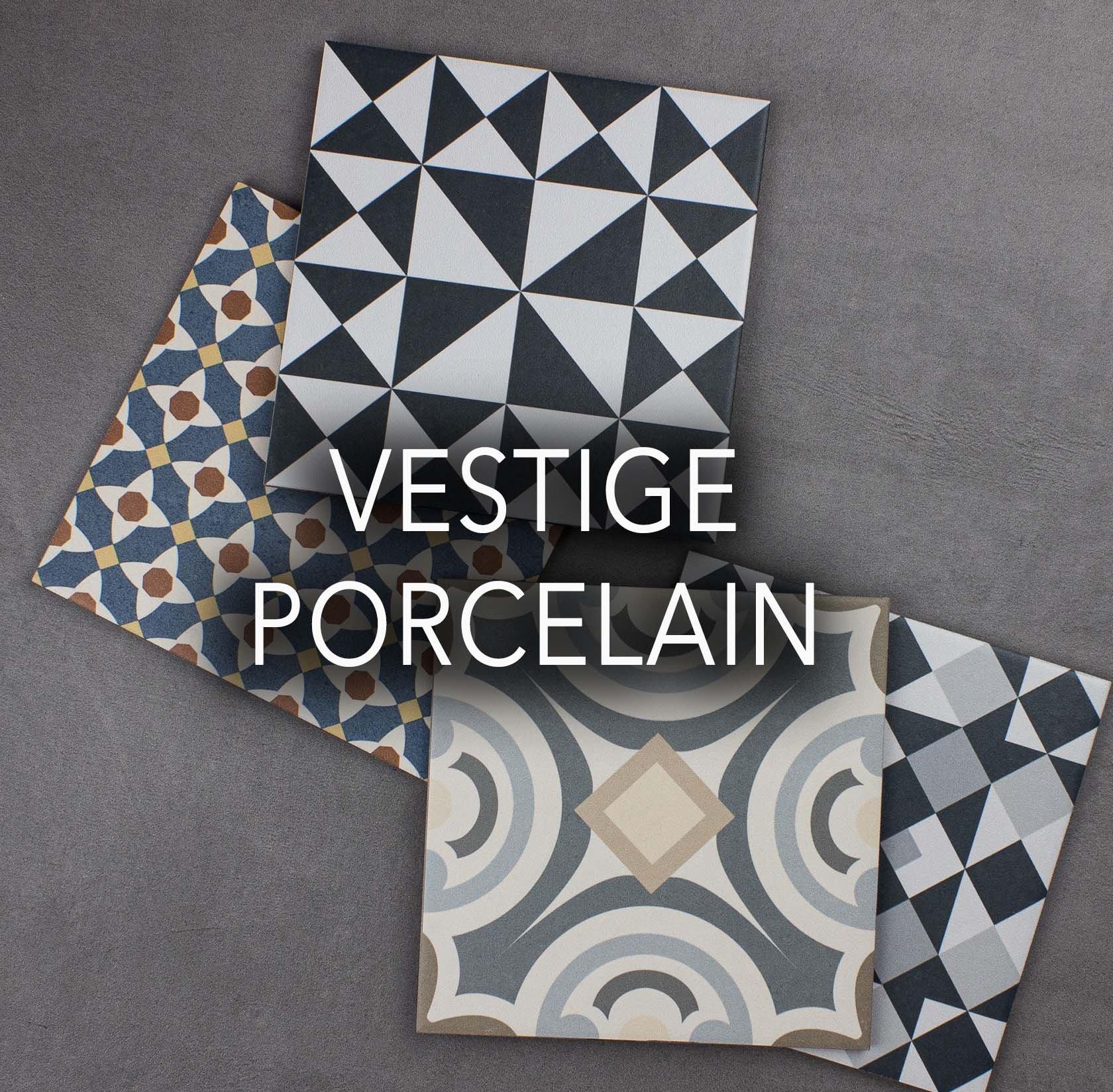 Vestige porcelain tiles