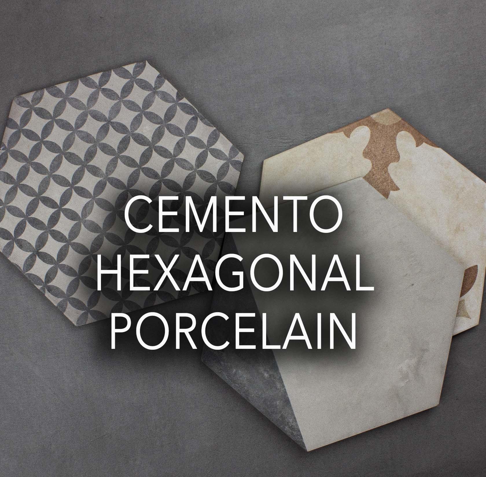 cemento hex porcelain tiles