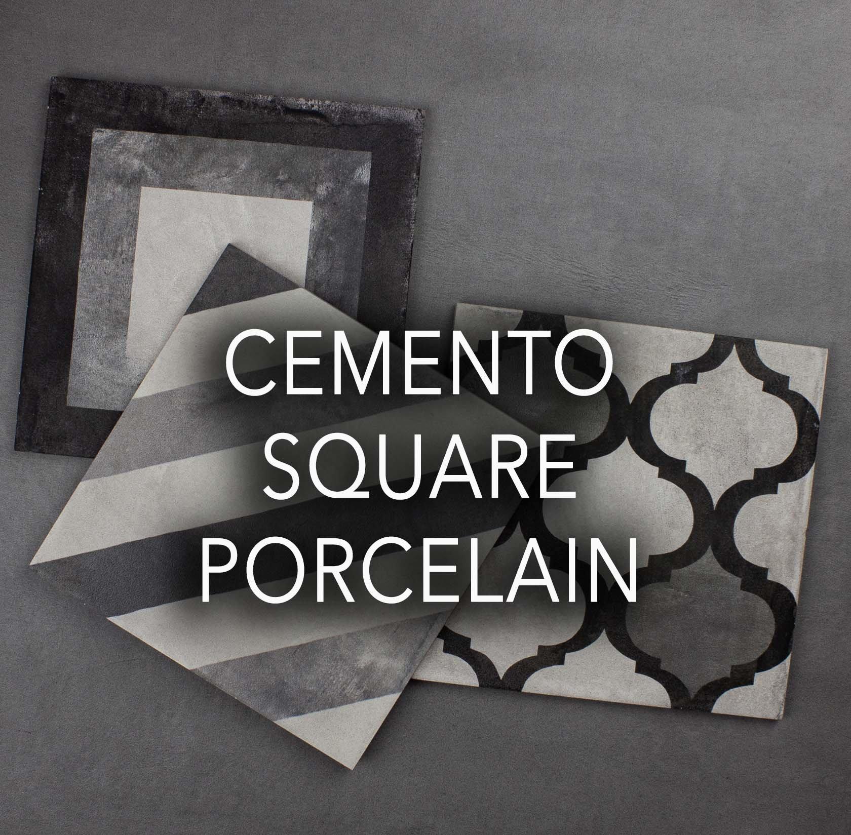 Cemento Square porcelain tiles