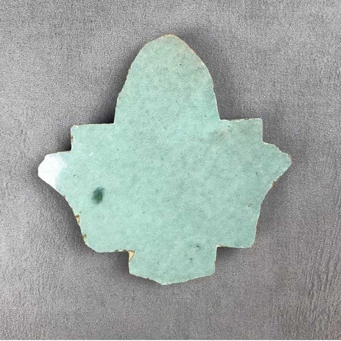 hand made leaf shaped zellige tile - hand cut - by Terrazzo Tiles