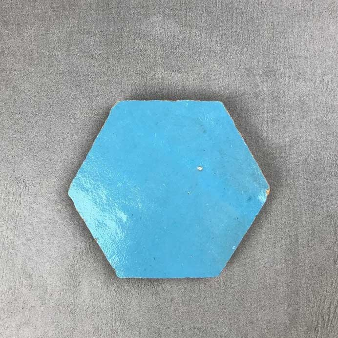Hand made hex shaped zellige tile - by Terrazzo Tiles